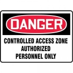 "Accuform MADM293XT10, Danger Safety Sign ""Controlled Access Zone…"""
