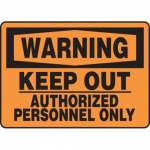 "Accuform MADM303XT10, OSHA Warning Safety Sign ""Keep Out…"""