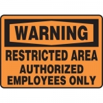 "Accuform MADM306XT10, OSHA Warning Safety Sign ""Restricted Area…"""