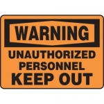 """Accuform MADM315XV10, Warning Safety Sign """"Unauthorized Personnel…"""""""