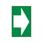Accuform MADM415XV10, Safety Sign White Arrow Right Dura-Vinyl