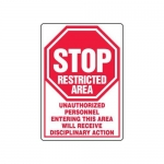 "Accuform MADM430XT10, Safety Sign ""Unauthorized Personnel…"""