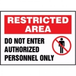 """Accuform MADM463XV10, Restricted Area Safety Sign """"Do Not Enter…"""""""