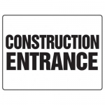 "Accuform MADM500XF10, Safety Sign ""Construction Entrance"""