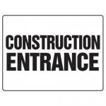 "Accuform MADM500XL, Safety Sign ""Construction Entrance"" Aluma-Lite"