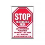 """Accuform MADM529XV10, Restricted Area Sign """"Unauthorized Personnel…"""""""