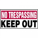 """Accuform MADM569XF, No Trespassing Safety Sign """"Keep Out"""""""