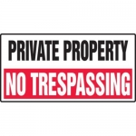 """Accuform MADM571XF10, Private Property Safety Sign """"No Trespassing"""""""