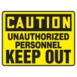 """Accuform MADM612XV10, Admittance & Exit Safety Sign """"Unauthorized…"""""""