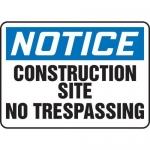"Accuform MADM644XL10, OSHA Notice Safety Sign ""Construction Site…"""