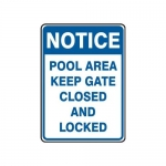 "Accuform MADM701XF10, Notice Safety Sign ""Pool Area – Keep Gate…"""