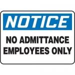 "Accuform MADM808XV10, OSHA Notice Safety Sign ""No Admittance…"""