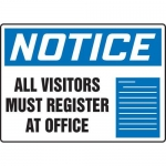 "Accuform MADM816XT10, OSHA Notice Safety Sign ""All Visitors Must…"""