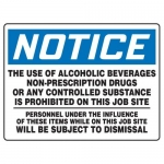 """Accuform MADM859XT, OSHA Notice Safety Sign """"Alcohol and Drugs Are…"""""""