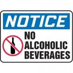 "Accuform MADM897VA10, OSHA Notice Safety Sign ""No Alcoholic Beverages"""