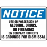"""Accuform MADM898XT10, OSHA Notice Safety Sign """"Use or Possession…"""""""