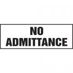 "Accuform MADM904XT10, Safety Sign ""No Admittance"" Dura-Plastic"
