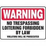 """Accuform MADM905XF10, Safety Sign """"No Trespassing – Loitering…"""""""