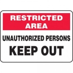 """Accuform MADM906XV10, Restricted Area Safety Sign """"Unauthorized…"""""""