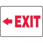 "Accuform MADM925XV10, Safety Sign ""Exit"" Left Arrow Dura-Vinyl"
