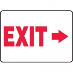 "Accuform MADM929XV10, Safety Sign ""Exit"" Right Arrow Dura-Vinyl"