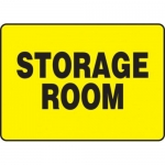 "Accuform MADM931VP10, 10″ x 14″ Safety Sign ""Storage Room"" Plastic"