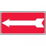 Accuform MADM978XV10, 7″ x 14″ Safety Sign Arrow Adhesive Dura-Vinyl