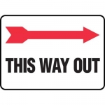 "Accuform MADM979XV10, Safety Sign Right Arrow ""This Way Out"""