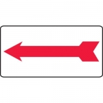 Accuform MADM995XV10, Safety Sign Left Arrow Adhesive Dura-Vinyl