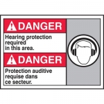 """Accuform MAFC110XT10, Bilingual Safety Sign """"Hearing Protection…"""""""