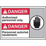"""Accuform MAFC118XT10, Safety Sign """"Authorized Personnel Only"""""""