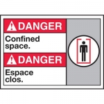 """Accuform MAFC124XT10, Danger Safety Sign """"Confined Space"""""""