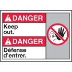 """Accuform MAFC127XT10, ANSI Danger Safety Sign """"Keep Out"""" Dura-Plastic"""