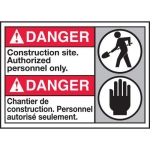 """Accuform MAFC128XL10, ANSI Safety Sign """"Construction Site…"""""""