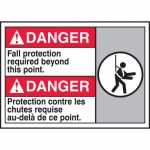 """Accuform MAFC131XT10, Bilingual ANSI Safety Sign """"Fall Protection…"""""""