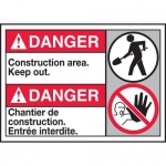 """Accuform MAFC132XL10, ANSI Safety Sign """"Construction Area Keep Out"""""""