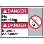 "Accuform MAFC133XT10, Bilingual ANSI Safety Sign ""No Smoking"""