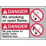 """Accuform MAFC137XT10, ANSI Danger Sign """"No Smoking or Open Flame"""""""