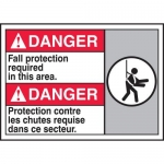 """Accuform MAFC138XT10, Bilingual ANSI Safety Sign """"Fall Protection…"""""""