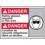 """Accuform MAFC147XT10, ANSI Safety Sign """"Safety Glasses Required…"""""""