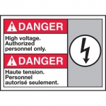 """Accuform MAFC173XT10, Bilingual ANSI Safety Sign """"High Voltage…"""""""