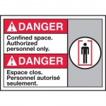 """Accuform MAFC182XT10, Bilingual ANSI Safety Sign """"Confined Space…"""""""