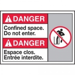 """Accuform MAFC184XT10, Bilingual Safety Sign """"Confined Space Do…"""""""