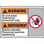 """Accuform MAFC312XT10, Bilingual Warning Safety Sign """"Do Not Enter…"""""""