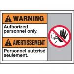 "Accuform MAFC314XT10, Bilingual Warning Safety Sign ""Authorized…"""