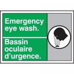 """Accuform MAFC506XT10, Safety Sign """"Emergency Eye Wash"""" Dura-Plastic"""
