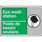 "Accuform MAFC507XT10, Safety Sign ""Eye Wash Station"" Dura-Plastic"