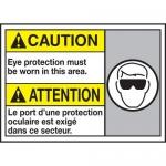 "Accuform MAFC614XT10, Bilingual ANSI Safety Sign ""Eye Protection…"""