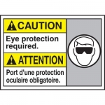 """Accuform MAFC617XT10, Bilingual Safety Sign """"Eye Protection Required"""""""