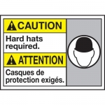 """Accuform MAFC618XT10, Bilingual ANSI Safety Sign """"Hard Hats Required"""""""